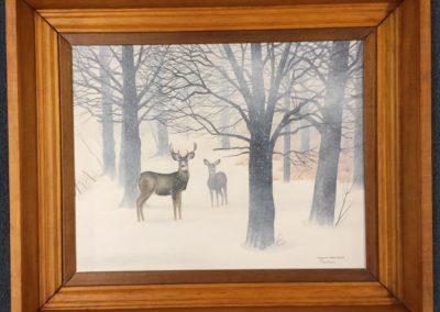 Margi's Deer in Snow Storm