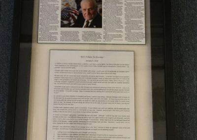 framed obituary